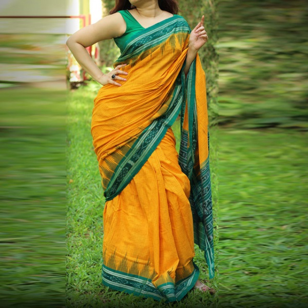 Buy Party Wear Mustard Green Color Fancy Saree at much ...