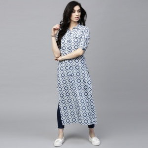 Beautiful Light Blue Color Printed Kurti