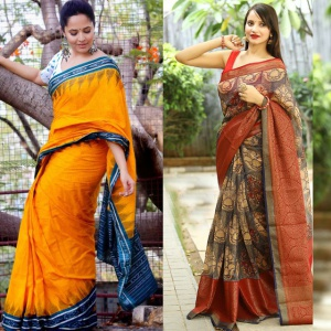 Pack Of 2 Office Wear Vichitra Silk Sarees