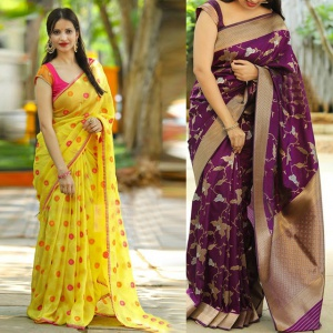 Pack Of 2 Wedding Wear Sarees
