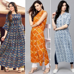 Pack Of 3 Party Wear Designer Kurtis