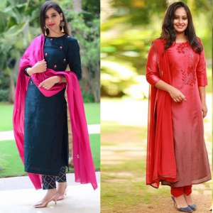 Pack Of 2 Embroidered Cotton Suit