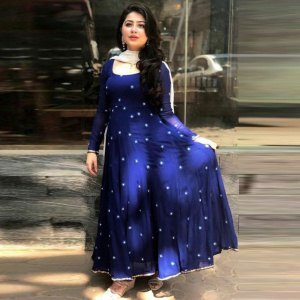 Beautiful Royal Blue Colored Cotton Suit