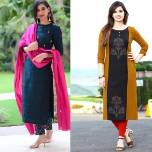 Combo Of 2 Embroidered Dress