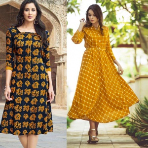 Combo Of 2 Office Wear Printed Dresses