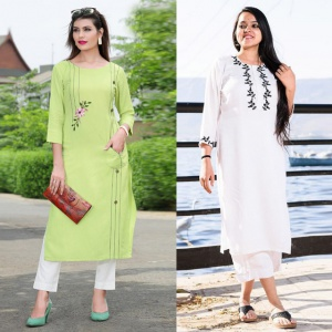 Combo Of 2 Office Wear Embrodered Dresses