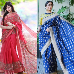 Combo Of 2 Traditional Wear Silk Sarees