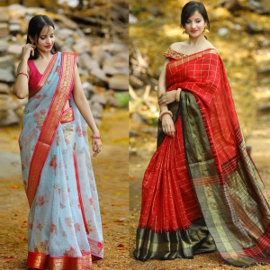 Pack Of 2 Impressive Party Wear Sarees