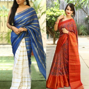 Pack Of 2 Fancy Printed Sarees