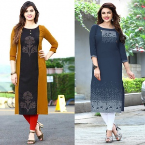 Pack Of 2 Office Wear Fancy Kurtis