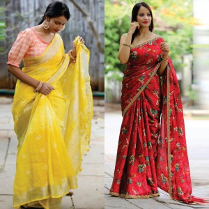 Pack Of 2 Designer Party Wear Sarees
