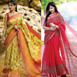 Pack Of 2 Party Wear Sarees