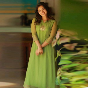 Green Colored Embroidered Fancy Dress